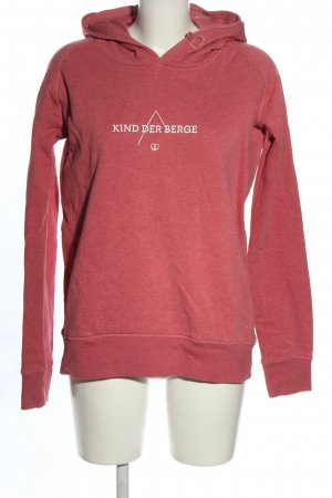 Stanley & Stella Hooded Sweatshirt pink flecked casual look