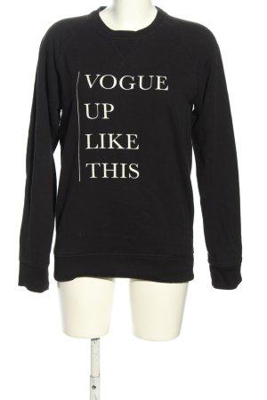 Stanley & Stella Sweatshirt schwarz Schriftzug gedruckt Casual-Look