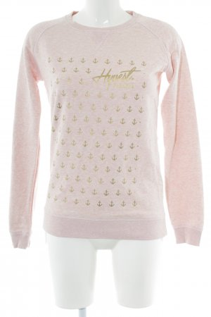 Stanley & Stella Sweatshirt pink-goldfarben Allover-Druck Casual-Look