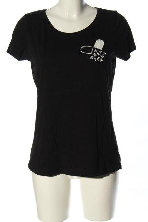 Stanley & Stella T-Shirt schwarz Motivdruck Casual-Look