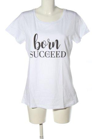 Stanley & Stella T-Shirt weiß-schwarz Motivdruck Casual-Look
