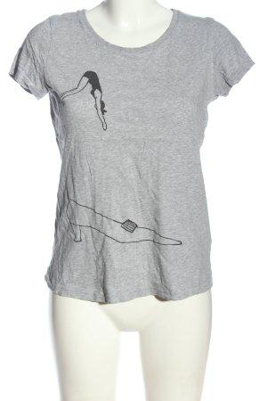 Stanley & Stella T-Shirt light grey-black flecked casual look