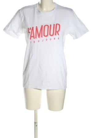Stanley & Stella T-Shirt weiß Schriftzug gedruckt Casual-Look
