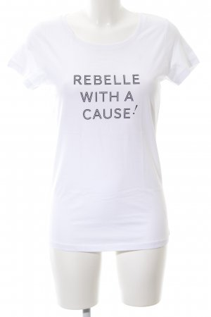 Stanley & Stella T-Shirt weiß Schriftzug gedruckt Business-Look