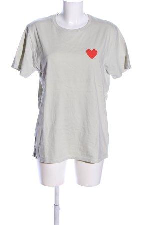 Stanley & Stella T-Shirt hellgrau-rot Casual-Look