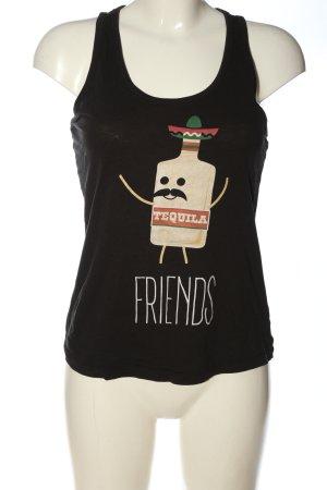 Stanley & Stella Tank Top black-cream themed print casual look