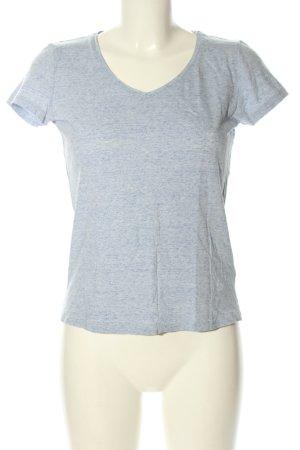 Stanley & Stella V-Ausschnitt-Shirt hellgrau meliert Casual-Look