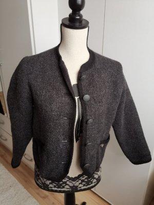 Stapf Blazer de lana gris oscuro-gris antracita