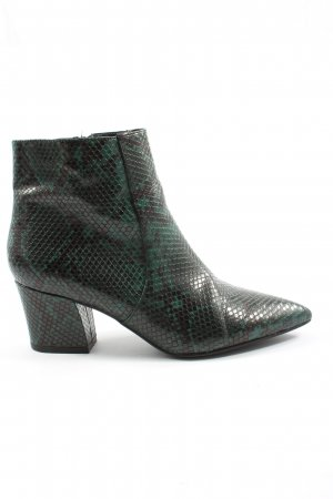 Star Collection Booties grün-schwarz Allover-Druck Elegant