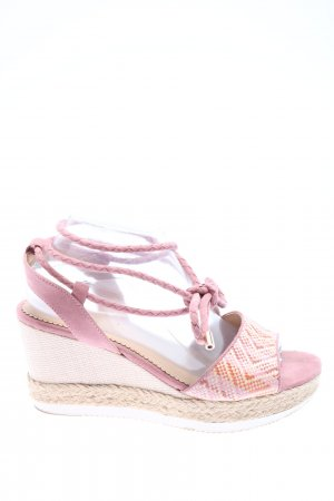 Star Collection Espadrilles-Sandalen pink-wollweiß Casual-Look