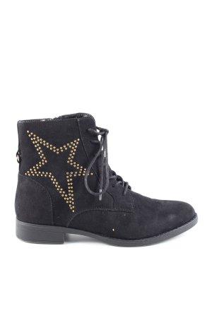 Star Collection Reißverschluss-Stiefeletten schwarz Casual-Look