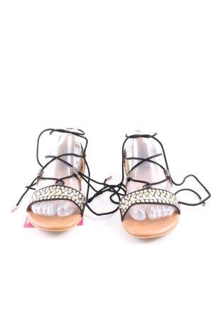 Star Collection Sandalo con cinturino nero-color carne stile casual