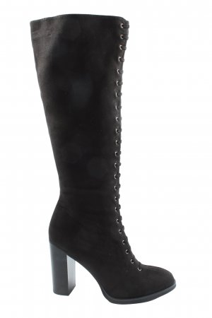 Star Collection Wide Calf Boots black elegant