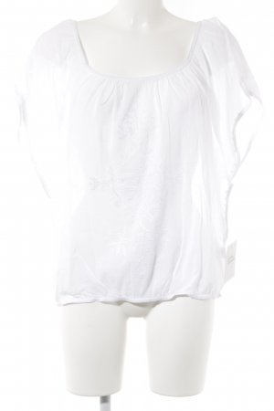 Star mela Cropped Shirt white abstract pattern
