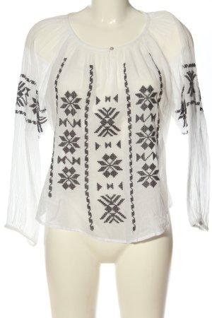 Star mela Long Sleeve Blouse white-light grey graphic pattern elegant