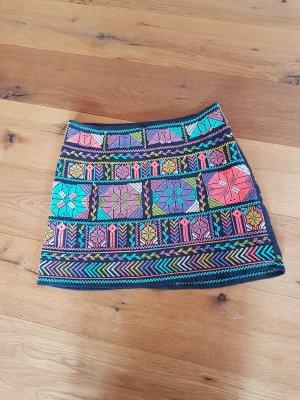 Star mela Falda de lino multicolor