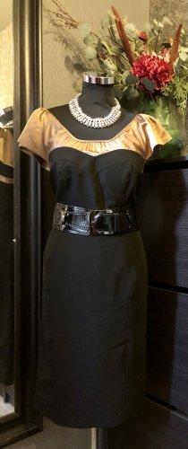 Julien macdonald Sheath Dress bronze-colored-black