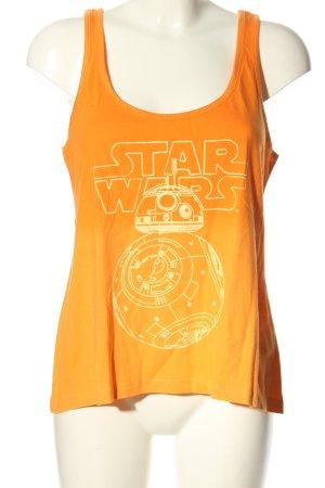 Star Wars Basic topje licht Oranje-sleutelbloem prints met een thema