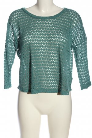 Staring at Stars Crochet Sweater turquoise casual look