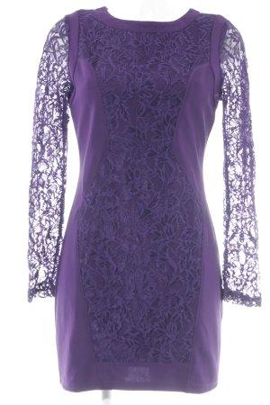 Starlet Robe en dentelle violet foncé Motif de tissage élégant