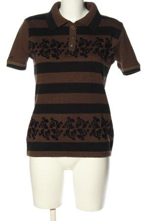 Starshot Koszulka z dzianiny brązowy-czarny Wzór w kwiaty W stylu casual