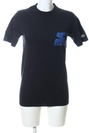 Starter Print-Shirt schwarz-blau Motivdruck Casual-Look
