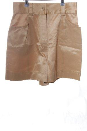 State of Claude Montana High-Waist-Shorts goldfarben extravaganter Stil