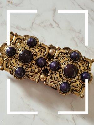 Statement Armband, gold Gold, lila