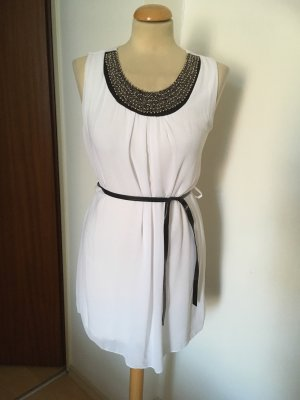 Made in Italy Chiffon Dress white-silver-colored