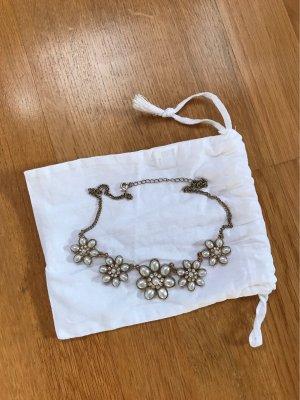 Statement Halskette Blumen