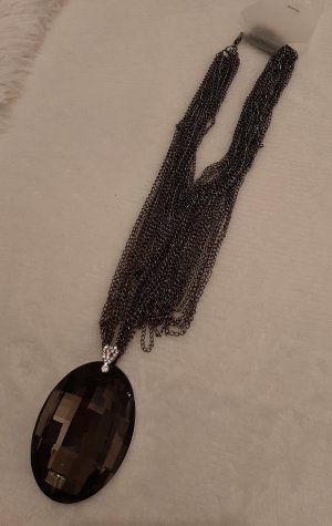markenlos Collar negro-gris antracita