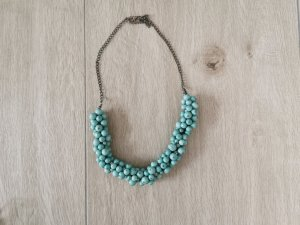 Collier incrusté de pierres turquoise-vert menthe