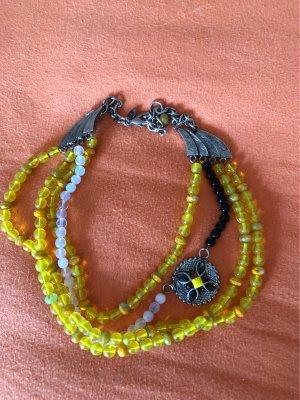 Gabriele Frantzen Statement Necklace silver-colored-yellow