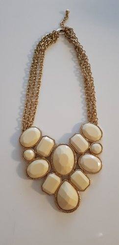 Statement ketting wit-goud