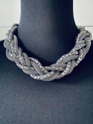 Zara Accesoires Cadena de cuentas color plata