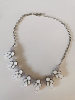 Statement Necklace white-dusky pink