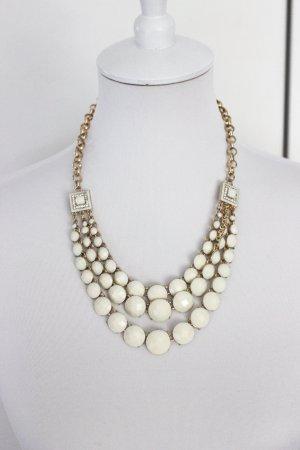 Statement Kette beige Gold edel Ornamente Zara