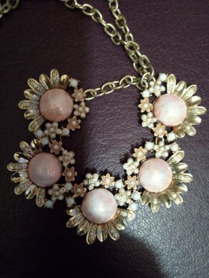 Statement Necklace multicolored metal