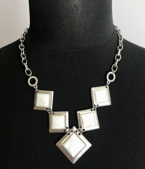 Statement Necklace white-light grey metal