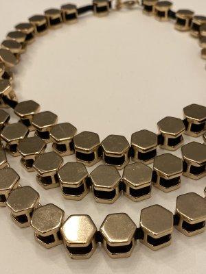 Zara Woman Collar estilo collier color oro-negro