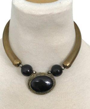 Statement Kette gold schwarz Orientalisch Afrika H&M Asos Topshop Mango Zara Vintage
