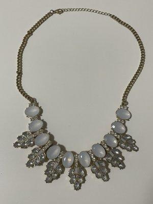 Bijou Brigitte Statement Necklace gold-colored-white