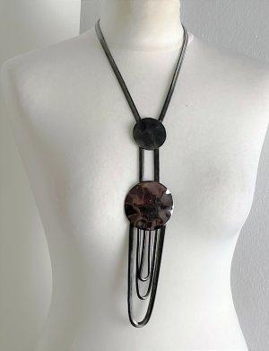 Ohne Collar estilo collier color plata-gris antracita metal