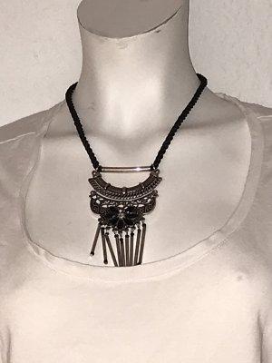 Cadena de cuentas negro-color plata