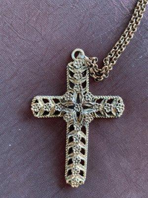 Statement Kette mit Kreuz aus Metall