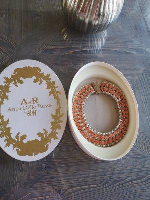Ana Alcazar Collier incrusté de pierres doré-orange