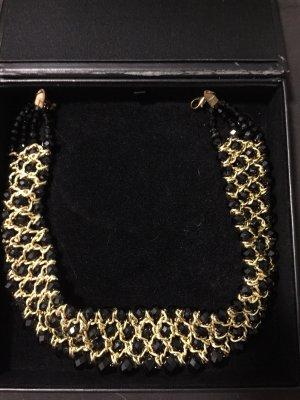 Collier zwart-goud