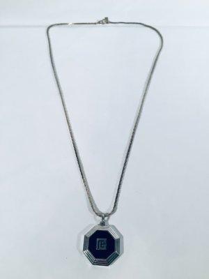 Balmain Collier noir-gris clair métal