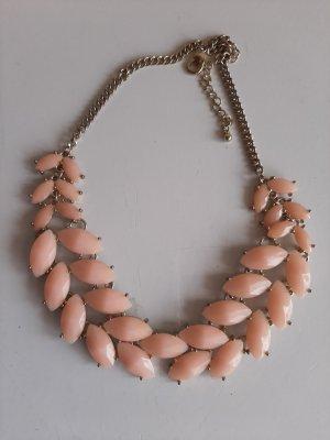 markenlos Collier incrusté de pierres rosé métal