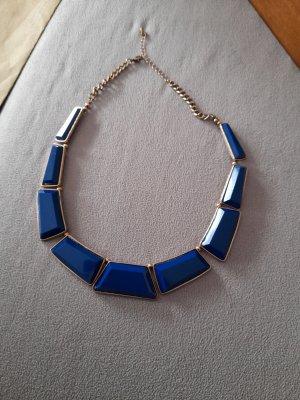 Collier goud-blauw